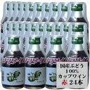 井筒ワイン カップワイン 赤 180ml×24本セット 1ケース / プラコップ付き 日本ワイン 飲みきりミニサイズ 長野 桔梗ヶ原ワインバレー