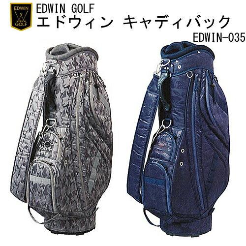 エドウィン ゴルフ EDWIN GOLF キャディバック EDWIN-035 【対応】 【送料無料】  こだわり満載!☆伝統的な☆