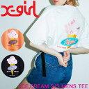 X-girl エックスガール Tシャツ ICE CREAM S/S MENS TEE レディース 半袖 05192110