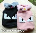 【ドッグウェア】【犬 服】マフラー付き顔シャツ(メール便不可)