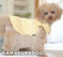 【ドッグウェア】【鎌倉DOG】イエローボーダーワンピース...