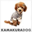 【ドッグウェア】【犬の服】【犬 服】マフラー&ボーダーつなぎ