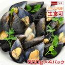 ムール貝 広島県産 国産 500g(15~25粒)×4パック まとめ買い