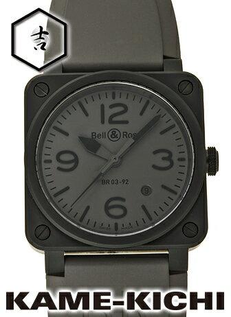 ベル&ロス BR03-92 コマンド Ref.BR03-92 新品 グレー (Bell&Ross BR03-92 COMMANDO)【_包装】 【革 腕時計】