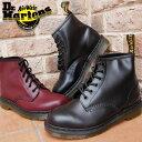 ドクターマーチン 靴 101 Dr.Martens 6EYE BOOT メンズ レディース ブーツ ショート丈 6ホールブーツ ユニセックス 10064001(BLACK) 10064600(CHERRY RED)