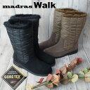 マドラス madras レディース MWL2049A スノーブーツ BLA(ブラック) OAK(オーク) 2色 ハーフ丈 ミドル丈 GORE-TEX ゴアテックス 防水 耐久性 防風 透湿性