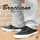 ブラチアーノ Bracciano メンズ スニーカー BR7387 ミッドカット カジュアル モノトーン シンプル ブラック ホワイト BLACK WHITE 黒 白