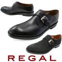ショッピングストラップ リーガル メンズ ビジネスシューズ 07RR 革靴 紳士靴 ブラック ブラックスエード モンクストラップ メイドインジャパン 日本製 フォーマル REGAL evid