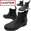 【送料無料】(一部地域除く)ハンター HUNTER メンズ レインブーツ ショートブーツ MFS9060 M ORG REFINED CHERSEA サイドゴアブーツ 防水 レイン