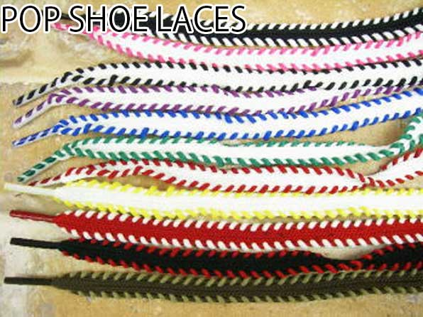 ≪3点でメール便無料≫POP SHOE LACES Stitch Lace 120cm ポップシューレース 紐