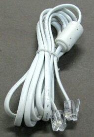 電話回線用 モジュラーケーブル コア付 6極2芯 2.0m (AD-20)