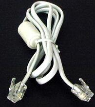 【あす楽】電話回線用 モジュラーケーブル コア付 6極2芯 3.0m (AD-30)
