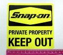 Snap-on (スナップオン) ステッカー キープアウト USA純正 並行輸入品