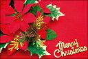 クリスマスカード サンタクロース サンタ 【DMC-063-L】【DMH-063-L】100枚パック メッセージカード ハガキサイズ デザインメッセージカードにクリスマスカード登場!【クリスマスデザインの絵柄面はプリンタ出力には適しません】