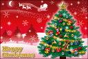 クリスマスカード サンタクロース サンタ 【DMC-068-L】【DMH-068-L】100枚パック メッセージカード ハガキサイズ デザインメッセージカードにクリスマスカード登場!【クリスマスデザインの絵柄面はプリンタ出力には適しません】