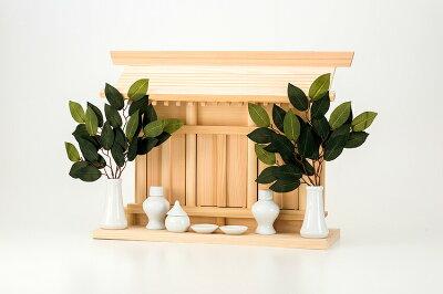 神棚棚板一体型通し屋根三社[神棚壁掛け]送料無料
