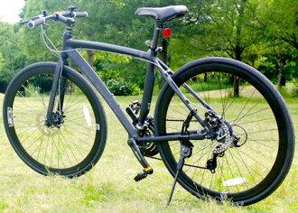 700 c 27 英寸自行車自行車噸黑色市週期非典型部分輕質鋁合金車架禧瑪諾作出之前和之後與 21 輪盤式制動器 & 前輪快速釋放傳輸黑色深外緣航空座椅管深淺不一的黑色 CROSSBIKE
