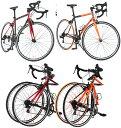 700C ロードバイク約27インチ折り畳み自転車ブラック×オ...