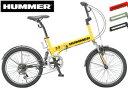 ハマー Wサスペンション 20インチ 折り畳み自転車HUMMER シマノ製6段変速ギア搭載アメリカの軍事ブランドと言えばハマー強くて頑丈..
