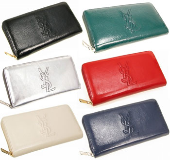 ysl red patent wallet