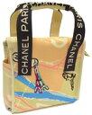 CHANEL シャネルハンドバッグParis MAP A30833ベージュ×ブラックエッフェル塔パリの地図をデザインクルーズライン鞄 かばん バック BAG カバン