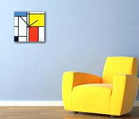ヨーロピアンオランダデザイン絵画のような壁掛け時計ガラスウォールクロック北欧スクエアポップカラークロックレッドイエローブルーブラックSQUAREWALLCLOCK四角掛け時計デザイナーズウォールクロック