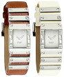 D&G 腕時計ドルガバ アナログウォッチ キルトホワイト文字盤 シルバーフレームブラウン アイボリーDOLCE&GABBANA KILTDW0348 DW0350ディー&ジーレディースドルチェ&ガッバーナアクセサリー ブレスレット