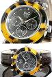 D&G ドルチェ&ガッバーナ ウォッチハバナ ブラウン ラウンドクロノグラフ 腕時計HAVANA BROWN型押しレザーベルトround shapeメンズ 琥珀