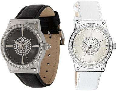 DOLCE&GABBANAD&G WATCH Sundanceドルチェ&ガッバーナドルガバ レディースウォッチ レザーベルト腕時計 サンダンスブラック×シルバー DW0527ホワイト×シルバー DW0525ラインストーンブレスレット アクセサリー