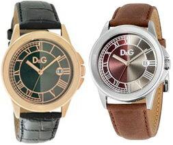 DOLCE&GABBANAD&G WATCH ZERMATTドルチェ&ガッバーナドルガバ メンズウォッチ腕時計 ツェルマット日付け表示シルバー×ブラウンレザー DW0630ピンクゴールド×クロコエンボスブラックレザーDW0628 ブラック×シルバー DW0630