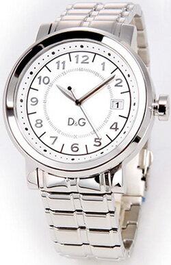 DOLCE&GABBANA 腕時計ドルチェ&ガッバーナ メンズウォッチホワイト×シルバー DW0488D&G WATCH DORIANドルガバ アナログディー&ジー ドリアン日付け表示 ラウンドフェイス