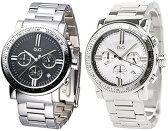 D&G 腕時計ドルガバ ウォッチ ジェンティールブラック×シルバー DW0675ホワイト×シルバー DW0676DOLCE&GABBANA GENTEELディー&ジードルチェ&ガッバーナクロノグラフ 日付け表示アクセサリー ブレスレットメンズ 男性用