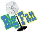 直径60cmの大きなアルミ製羽根が回る 巨大扇風機体育館、工...