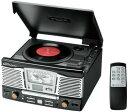 SDカードやUSBメモリのMP3ファイルも再生アンティーククラシックレコードプレイヤー&CDプレイヤー&FMラジオ&AMラジオマルチジューク..