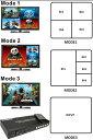 こんなの欲しかった!子画面ワイプ表示可能!4つの映像を1画面に表示できるHDMIセレクタ4つの入力映像を同時に見ることができるマルチビュー機能ゲーム中でもテレビやパソコンの映像をモニタリングできる高機能なHDMIスイッチャー装置リモコン付き