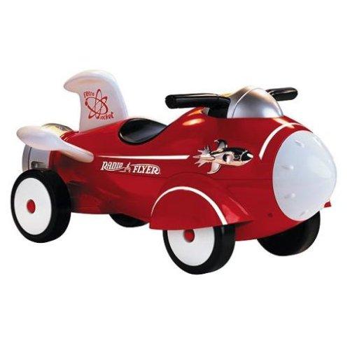 RADIO FLYER ラジオフライヤーRide Ons 乗用玩具Retro Rocket #61キックカー 安定の4輪車レトロスタイルのロケット型乗用車