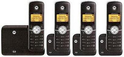 Motorolaモトローラーデジタルコードレスフォン盗聴がされ難く、クリアな音声通話が可能なDECT6.0採用デジタル機親機もコードレス ブラック子機増設可能Cordless Telephone:kaminorth