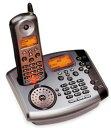 Motorola MD7081モトローラー デジタルコードレスフォン2回線の電話番号を1台でクリア音声 5.8GHz複数回線 留守番機能付き電話機Cordless Telephoneベース&コードレス子機シルバー×ガンメタ