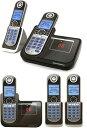 ブルーLCDディスプレイモトローラーデジタルコードレスフォン盗聴がされ難く クリアな音声通話が可能なDECT6.0採用デジタル留守電話機能付き電話機親機兼用コードレス子機 ブラックP1001用 P1002用 P1003用 P1004 増設用子機