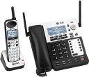 4番号の複数回線をこれ1台で留守電話機能付きコードレス電話機盗聴され難くクリアな音声通話可能なDECT6.0方式採用コードレス子機付き..