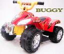 子供用電動乗用4輪バイクオフロードレッドビッグバギーアクセルペダル駆動乗用玩具 電気で動くバッテリーカー四輪車 おもちゃ BUGGY 赤色