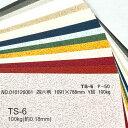 【特殊紙】TS-6(タントセレクト6) 100kg(0.18mm)選べる16色【ファンシーペーパー 印刷用紙 型押し模様 エンボス】