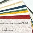 【特殊紙】TS-6(タントセレクト6) 130kg(0.21mm)選べる6色【ファンシーペーパー 印刷用紙 型押し模様 エンボス】
