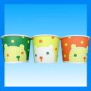 【業務用箱買い】発泡紙カップシロクマ 13オンス 400ml 3色アソート 計1000個/箱【カキ氷】【スープカップ】【フードカップ】