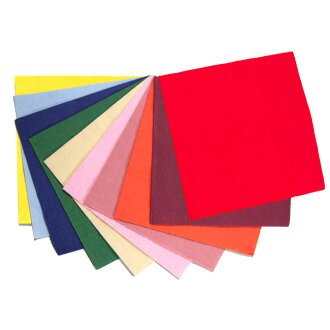 Four color folded napkins 24 cm 2 ply ☆ 100 pieces