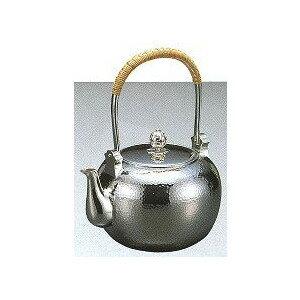 【送料無料】茶器 銀瓶 丸型槌目打 4.5寸