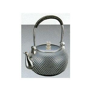 【送料無料】銀瓶 丸型総アラレ 5寸銀 銀瓶 鉄瓶 茶道具 日本製 工芸品