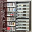 CD収納棚 DVDラック 段違い ワイドストッカー 日本製 ダークブラウン[02P03Dec16]
