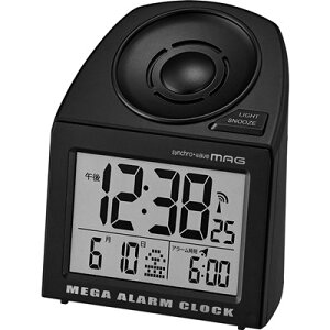 目覚まし時計 大音量 爆音 デジタル 電波時計 メガサウンド