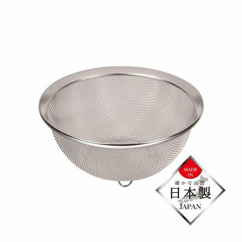 ザルざる笊18cmステンレス製ストレーナー水切り日本製